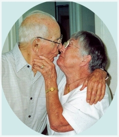 Bill and Gert - married 68 years