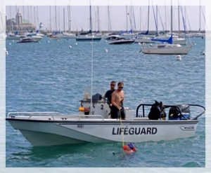 Lifeguard rescue boat
