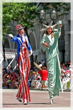 uncle sam - lady liberty