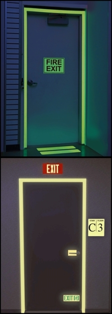 photoluminiscent exit signs