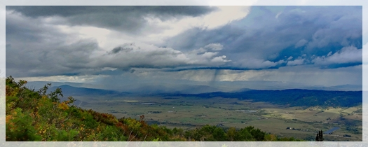 clouds over Steamboat Springs