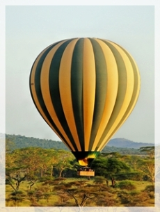 balloon over serengetti