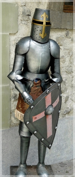 armor - castle chillon - lake geneva