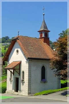 weggis - switzerland - mudslide chapel