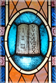 Ten COmmandments window